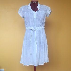 Dresses & Skirts - White cotton polkadot dress